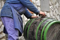 Barrel cleaning Stock Photos