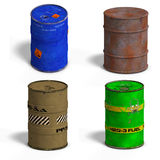Barrel Collection Stock Photo