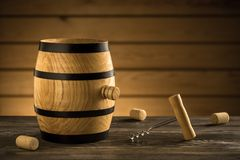 Barrel and corkscrew Royalty Free Stock Images