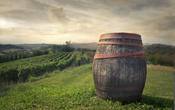 Barrel in the countryside Royalty Free Stock Photography