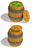 Barrel of cucumbers Stock Image