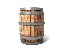 Barrel. 3D image of barrel on white background Royalty Free Stock Image
