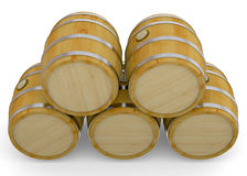Barrel - 3d. Wood Barrel on whte background Royalty Free Stock Photos