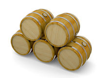 Barrel - 3d. Wood Barrel on whte background Royalty Free Stock Image