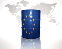 Barrel with european union flag Royalty Free Stock Images