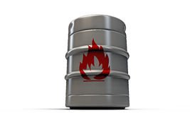 Barrel with flame sign Stock Image