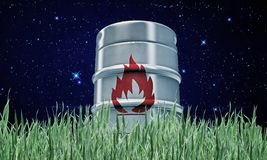 Barrel with flame sign Stock Photography