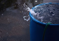 Barrel full of water Royalty Free Stock Photography