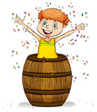 A barrel of fun idiom Royalty Free Stock Image