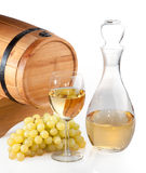Barrel and a glass of wine Royalty Free Stock Photos