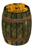 Barrel of gold coins Royalty Free Stock Photos