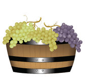 Barrel with grapes Stock Photos