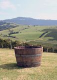 Barrel of Grapes. At an Australian winery in New South Wales, Australia Stock Images