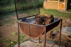Barrel Grill Stock Photo