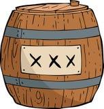Barrel of gunpowder Stock Image