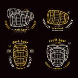 Barrel homebrew emblems Stock Photography