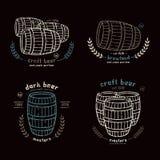 Barrel homebrew emblems Royalty Free Stock Image
