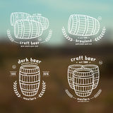 Barrel homebrew emblems Stock Images