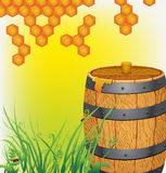 Barrel with honey Royalty Free Stock Photo