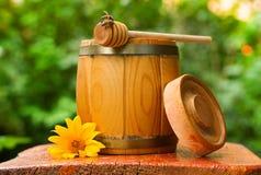Barrel of honey Royalty Free Stock Photography