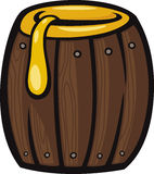 Barrel of honey clip art cartoon illustration Royalty Free Stock Photos