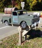 Barrel House Mailbox stock photo