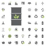 Barrel icon. Eco and Alternative Energy vector icon set. Energy source electricity power resource set vector. Barrel icon. Eco and Alternative Energy vector Royalty Free Stock Photos