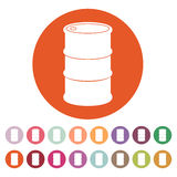 The barrel icon Royalty Free Stock Image