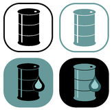 Barrel icon symbol set Royalty Free Stock Image