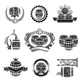 Barrel icons set Stock Photos