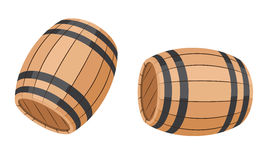 Barrel. Illustration of a set barrel stock illustration