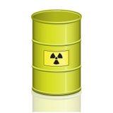 Barrel. Illustration withh Radioactive Warning Symbol royalty free illustration