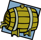 barrel le vin de barillet d'illustration de bière en bois Illustration Libre de Droits