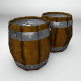 Barrel with liquid container Royalty Free Stock Photo