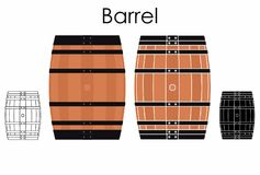 Barrel for liquids stock illustration
