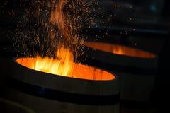 Barrel Making in Bordeaux Wineyard Stock Photography