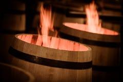 Barrel Making in Bordeaux Wineyard Stock Image
