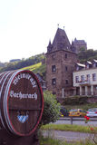 Barrel marker and tower of Bacharach Royalty Free Stock Photos
