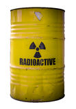 Barrel Of Nuclear Waste. Grungy Barrel Or Drum Of Radioactive Nuclear Waste Isolated On White Royalty Free Stock Photo