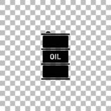 Barrel oil icon flat stock illustration