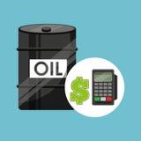 Barrel oil concept calculator planning money Royalty Free Stock Photos