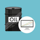 Barrel oil concept finance graph. Vector illustration eps 10 Royalty Free Stock Images