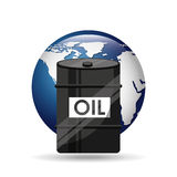 Barrel oil concept globe world Stock Image