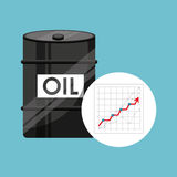 Barrel oil concept growth graph. Vector illustration eps 10 Stock Photo