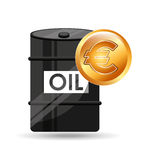 Barrel oil concept money international euro. Vector illustration eps 10 Royalty Free Stock Photography