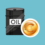Barrel oil concept money international euro. Vector illustration eps 10 Stock Photo