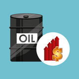 Barrel oil concept price growth Stock Images