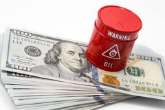 Barrel oil, dollar Stock Photos