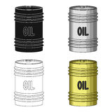 Barrel of oil.Oil single icon in cartoon style vector symbol stock illustration web. Royalty Free Stock Images