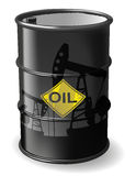Barrel of oil royalty free illustration